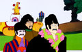 Animation Art:Production Cel, Beatles Yellow Submarine John Lennon, George Harrison, andRingo Starr Production Cel (United Artists/King Feature...