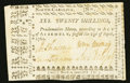 Colonial Notes:North Carolina, North Carolina April 23, 1761 20s Very Fine+.. ...