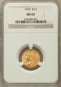 Indian Quarter Eagles: , 1929 $2 1/2 MS65 NGC. NGC Census: (232/3). PCGS Population (124/3).Mintage: 532,000. Numismedia Wsl. Price for problem fre...