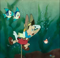 Animation Art:Production Cel, Pinocchio Production Cel with Courvoisier Background (WaltDisney, 1940)....