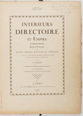 Books:Art & Architecture, F. Contet. INSCRIBED. Interieurs Directoire et Empire. Paris: Contet, 1932. Inscribed and signed by Contet on ...