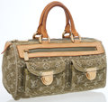 Luxury Accessories:Bags, Louis Vuitton Green Monogram Denim Neo Speedy 30 Top Handle Bag....
