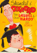 """Movie Posters:Comedy, A Chump at Oxford (United Artists, 1940). Swedish One Sheet (27.5""""X 39"""").. ..."""