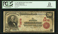 National Bank Notes:Illinois, Peoria, IL - $20 1902 Red Seal Fr. 639 The Peoria NB Ch. # (M)2878. ...
