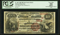 National Bank Notes:Illinois, Oakland, IL - $10 1882 Brown Back Fr. 487 The Oakland NB Ch. # (M)2212. ...