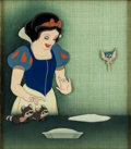 Animation Art:Production Cel, Snow White and the Seven Dwarfs Snow White Production CelSet-Up (Walt Disney, 1937)....