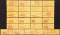 Autographs:Bats, 1960's Ron Kostelnik Signed Green Bay Packers Checks Lot of 25. ...