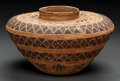 American Indian Art:Baskets, A YOKUTS PICTORIAL POLYCHROME BOTTLENECK JAR. c. 1900...