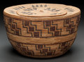 American Indian Art:Baskets, A YOKUTS POLYCHROME COILED BASKET. c. 1900...