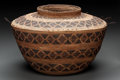American Indian Art:Baskets, A YOKUTS POLYCHROME COILED JAR. c. 1900 ...