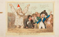 "Miscellaneous:Ephemera, Thomas Rowlandson. Lithograph: ""The Ghost of a Rotten Borough,Appearing on the Hustings of Covent Garden.""..."