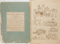 Books:Prints & Leaves, T. Rowlandson. Outlines of Figures, Landscapes, &Cattle... London: Fores, [nd, late eighteenth-century].Folio....