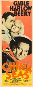 "Movie Posters:Romance, China Seas (MGM, 1935). Insert (14"" X 36"").. ..."