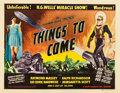 "Movie Posters:Science Fiction, Things to Come (Film Classics, R-1947). Half Sheet (22"" X 28"")....."