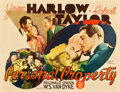 "Movie Posters:Romance, Personal Property (MGM, 1937). Half Sheet (22"" X 28"").. ..."