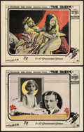 "Movie Posters:Romance, The Sheik (Paramount, 1921). Lobby Cards (2) (11"" X 14"").. ... (Total: 2 Items)"