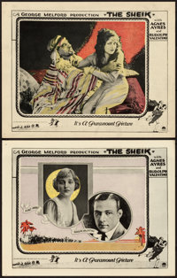 """The Sheik (Paramount, 1921). Lobby Cards (2) (11"""" X 14""""). ... (Total: 2 Items)"""