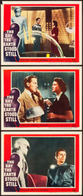 "Movie Posters:Science Fiction, The Day the Earth Stood Still (20th Century Fox, 1951). Lobby Cards(3) (11"" X 14"").. ... (Total: 3 Items)"