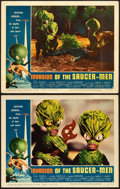 """Movie Posters:Science Fiction, Invasion of the Saucer-Men (American International, 1957). Lobby Cards (2) (11"""" X 14"""").. ... (Total: 2 Items)"""