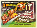 "Movie Posters:Science Fiction, It Came from Outer Space (Universal International, 1953). HalfSheet (22"" X 28"") 3-D Style B.. ..."