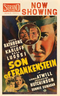 "Movie Posters:Horror, Son of Frankenstein (Universal, 1939). Window Card (14"" X 22"").. ..."