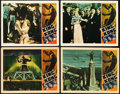 "Movie Posters:Horror, King Kong (RKO, R-1938). Lobby Cards (4) (11"" X 14"").. ... (Total:4 Items)"