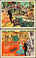 "Movie Posters:Musical, Top Hat (RKO, 1935). Title Lobby Card and Lobby Card (11"" X 14"")..... (Total: 2 Items)"