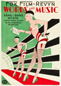 "Movie Posters:Musical, Words and Music (Fox, 1929). Swedish One Sheet (28"" X 39.5"").. ..."