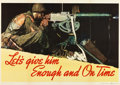 "Movie Posters:War, Norman Rockwell Propaganda Poster (U.S. Government Printing Office,1942). Industry Poster (28.5"" X 40"") ""Let's Give Him Eno..."