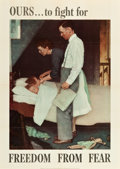 "Movie Posters:War, Norman Rockwell Four Freedoms Propaganda Posters (U.S. GovernmentPrinting Office, 1943). WWII Propaganda Posters (3) (28"" X...(Total: 4 Items)"