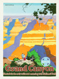 "Movie Posters:Miscellaneous, Santa Fe Grand Canyon Travel Poster (Santa Fe Railroad, Circa1949). Poster (18"" X 24"").. ..."