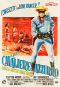 "Movie Posters:Western, The Lone Ranger and the Lost City of Gold (United Artists, 1960).Italian 4 - Foglio (55"" X 78.5"").. ..."