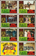 "Movie Posters:Western, Fort Apache (RKO, 1948). Lobby Card Set of 8 (11"" X 14"").. ... (Total: 8 Items)"