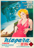 "Movie Posters:Film Noir, Niagara (20th Century Fox, R-1960). Italian 4 - Foglio (54"" X76"").. ..."