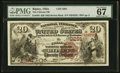 National Bank Notes:Ohio, Ripley, OH - $20 1882 Brown Back Fr. 494 The Citizens NB Ch. # 3291. ...