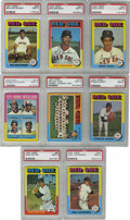 Baseball Cards:Lots, 1975 Topps Baseball Boston Red Sox PSA Mint Group Lot of 8. Each ofthe PSA 9 cards from the colorful 1975 Topps issue that...