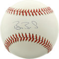 Autographs:Baseballs, Barry Bonds Single Signed Baseball. The most feared hitter of themodern era and the most abundant home run hitter of all t...
