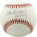 Autographs:Baseballs, Stan Musial Single Signed Baseball. A life time St. Louis Cardinal,Musial was elected to the Hall of Fame in 1969. The fam...