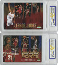 Basketball Cards:Lots, 2003-04 Upper Deck Collectibles LeBron James WCG-Gem Mint 10 GroupLot of 2. Pair of oversized special Upper Deck cards fro...