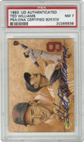 Autographs:Sports Cards, 1993 Upper Deck Authenticated Signed Ted Williams Card PSA NM 7.This beauty carries the dual-authentication of both the Up...