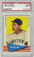 Baseball Cards:Singles (1960-1969), 1961 Fleer Ted Williams #152 PSA Mint 9. Beautiful Mint card from the 1961 Fleer issue features one Theodore S. Williams an...