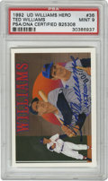 """Baseball Cards:Singles (1970-Now), 1992 UD Signed Ted Williams Heroes Checklist #36 PSA Mint 9.Limited-edition """"1453/2500"""" signed card from the 1992 Upper De..."""