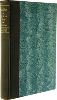 Henry David Thoreau: Walden or Life in the Woods Signed by the Photographic Illustrator Edward Steichen (Boston: Pri