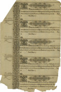 Colonial Notes:Maryland, Maryland 1733 5s Uncut Sheet of Five Extremely Fine....