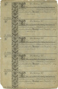 Colonial Notes:Maryland, Maryland 1733 10s Uncut Sheet of Five New....