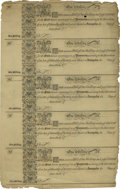 Colonial Notes:Maryland, Maryland 1733 1s Uncut Sheet of Five Two Examples New.... (Total: 2sheet)