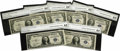 Small Size:Silver Certificates, Fr. 1609 $1 1935A R Silver Certificates. Cut Half Sheet of Six CGA Choice Uncirculated 64, Gem Uncirculated 65.. ... (Total: 6 notes)