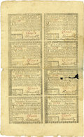 Colonial Notes:Rhode Island, Rhode Island July 2, 1780 Half Sheet of Eight....