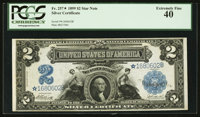 Fr. 257* $2 1899 Silver Certificate PCGS Extremely Fine 40