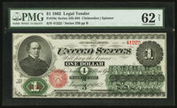 Fr. 16c $1 1862 Legal Tender PMG Uncirculated 62 Net